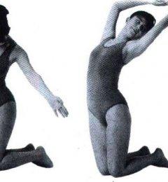 跪地转体去除腰痛的方法