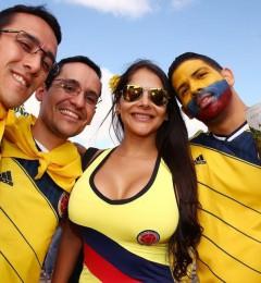 世界杯令人着迷 少不了美女球迷的风彩