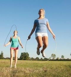 为何美女都爱跳绳?
