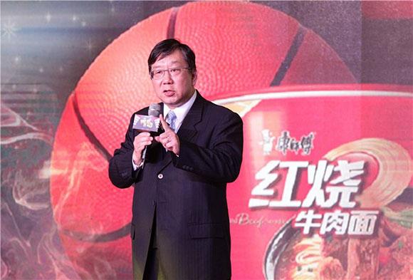 康师傅控股有限公司中国区董事长贾先德先生上台讲话