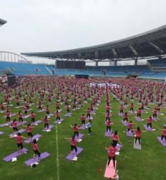 全球最大规模孕妇瑜伽课吉尼斯世界纪录 在合肥诞生!