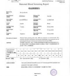 香港验血达雅高报告图片解析
