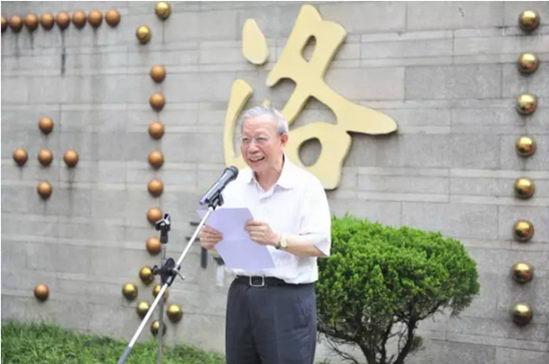国医大师�P国维在揭幕仪式上讲话