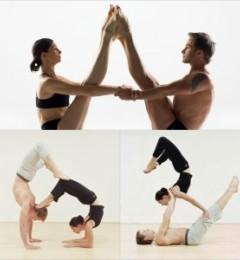 运动中增加感情 双人瑜伽功效加倍!