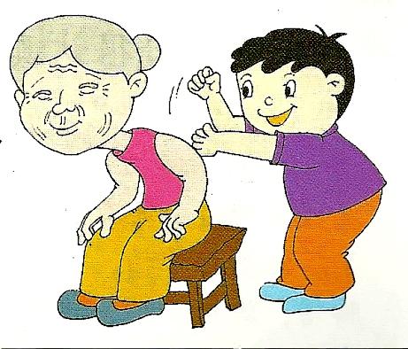 给家里老人捶捶背 乐享天伦享健康!