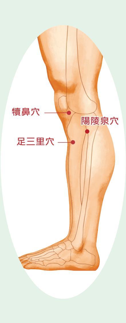 风湿导致的膝关节痛,3个穴位轻松解!