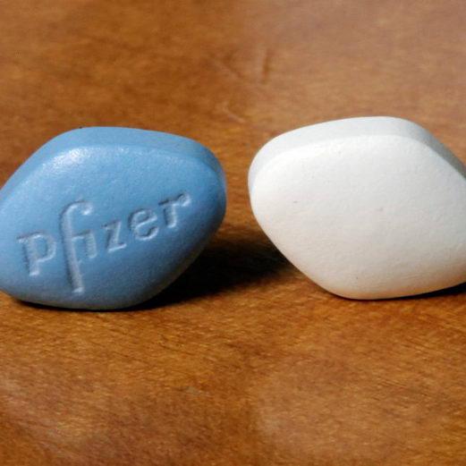 """男性用""""蓝色小药丸""""可能带来视觉上持续的副作用"""