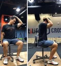 上班族久坐不动颈肩腰腿痛上身 一起来做肩颈脊椎肌群伸展运动